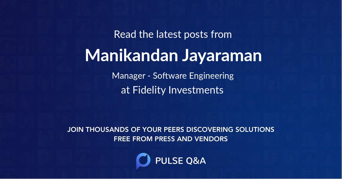 Manikandan Jayaraman