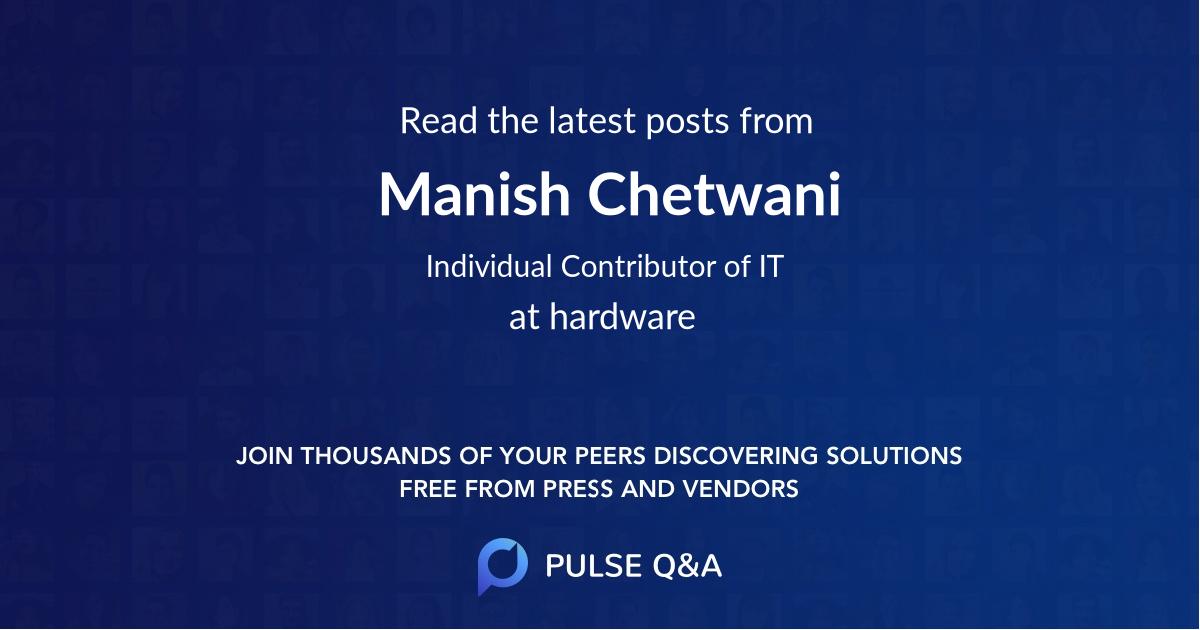Manish Chetwani