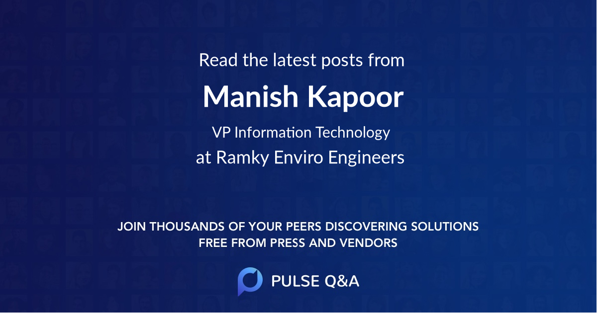 Manish Kapoor