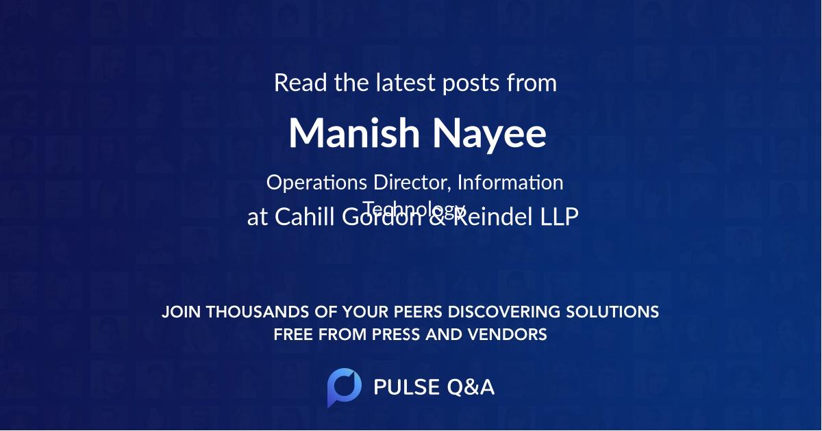 Manish Nayee