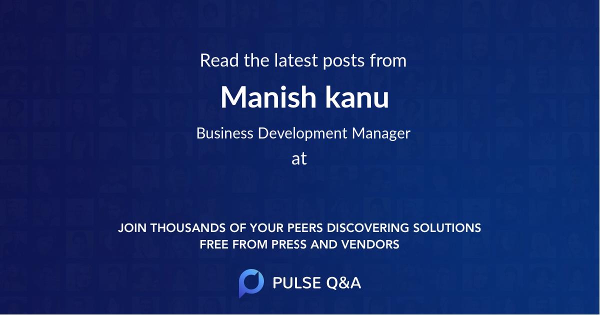 Manish kanu