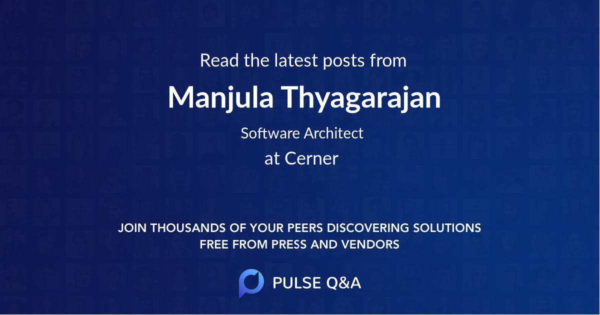 Manjula Thyagarajan