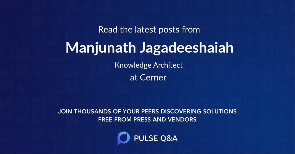 Manjunath Jagadeeshaiah