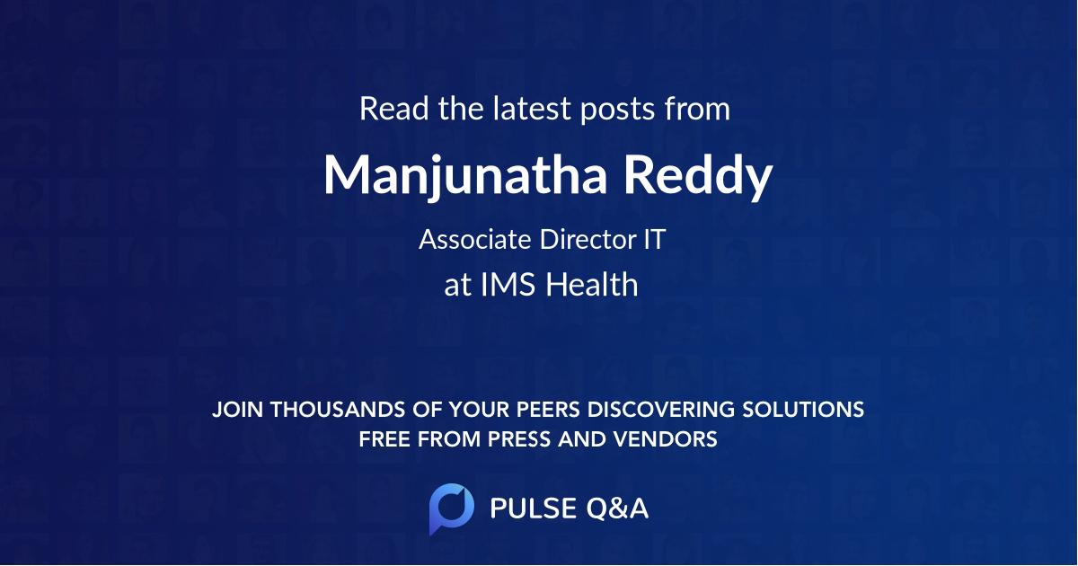 Manjunatha Reddy