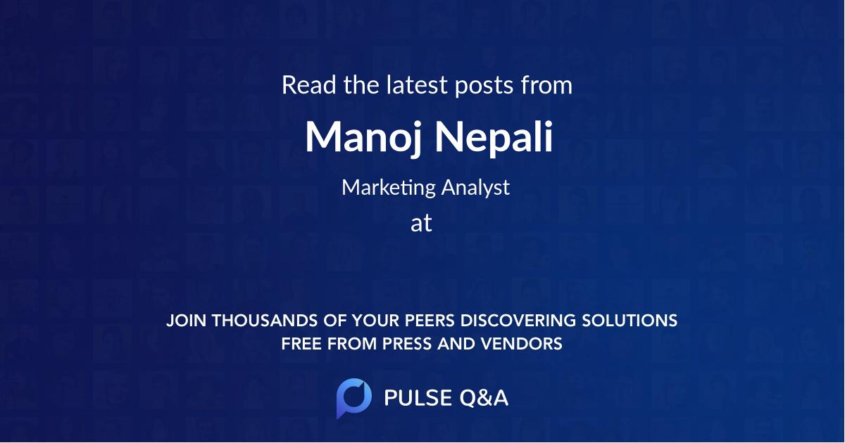Manoj Nepali