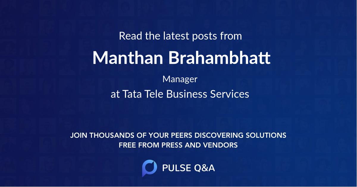 Manthan Brahambhatt