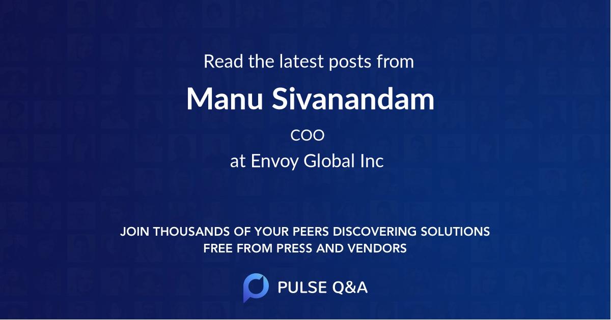 Manu Sivanandam