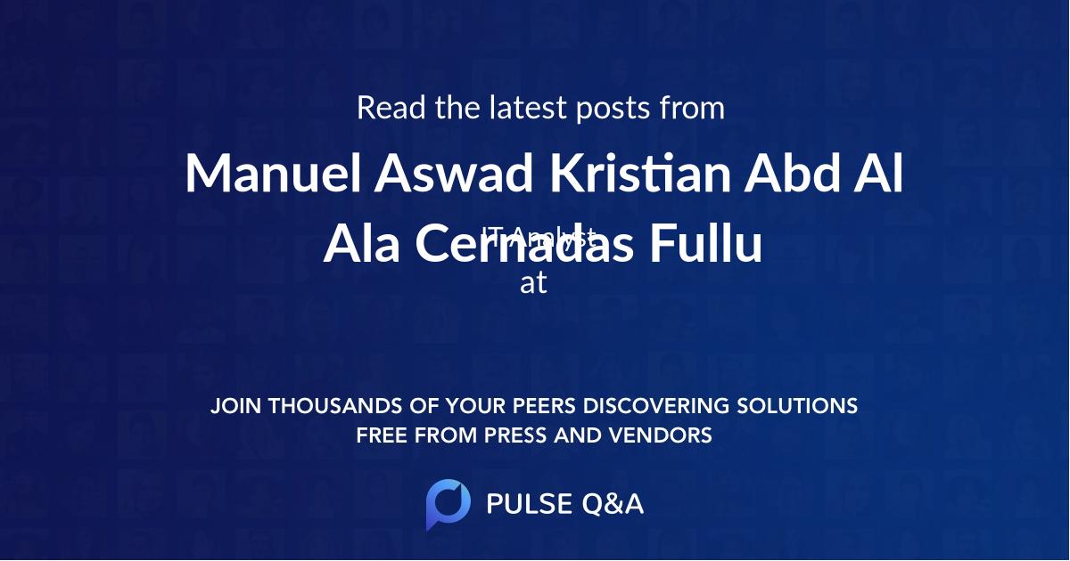 Manuel Aswad Kristian Abd Al Ala Cernadas Fullu