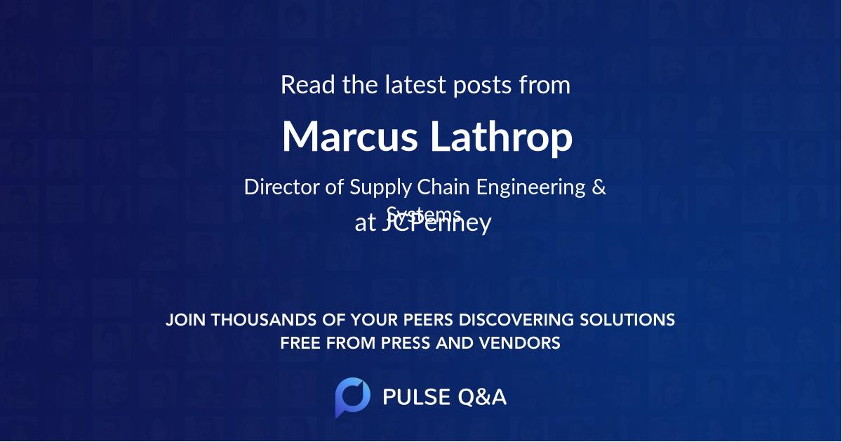 Marcus Lathrop