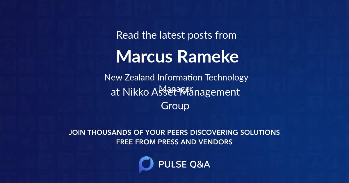 Marcus Rameke