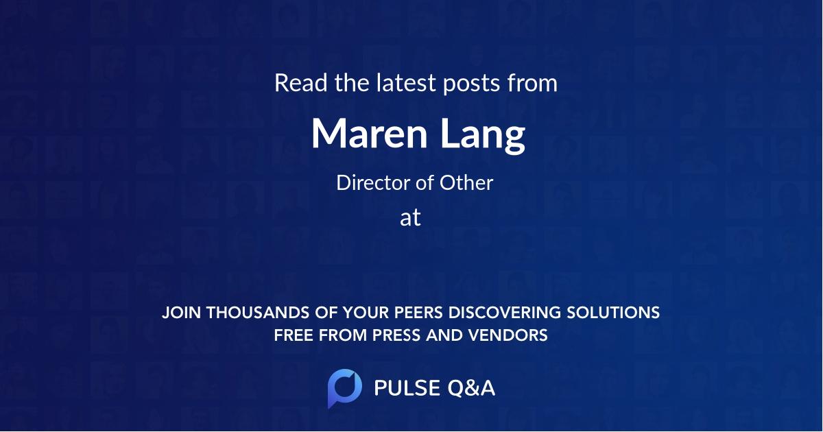 Maren Lang
