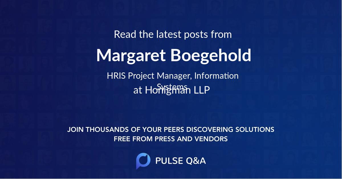 Margaret Boegehold