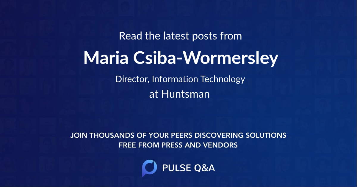 Maria Csiba-Wormersley