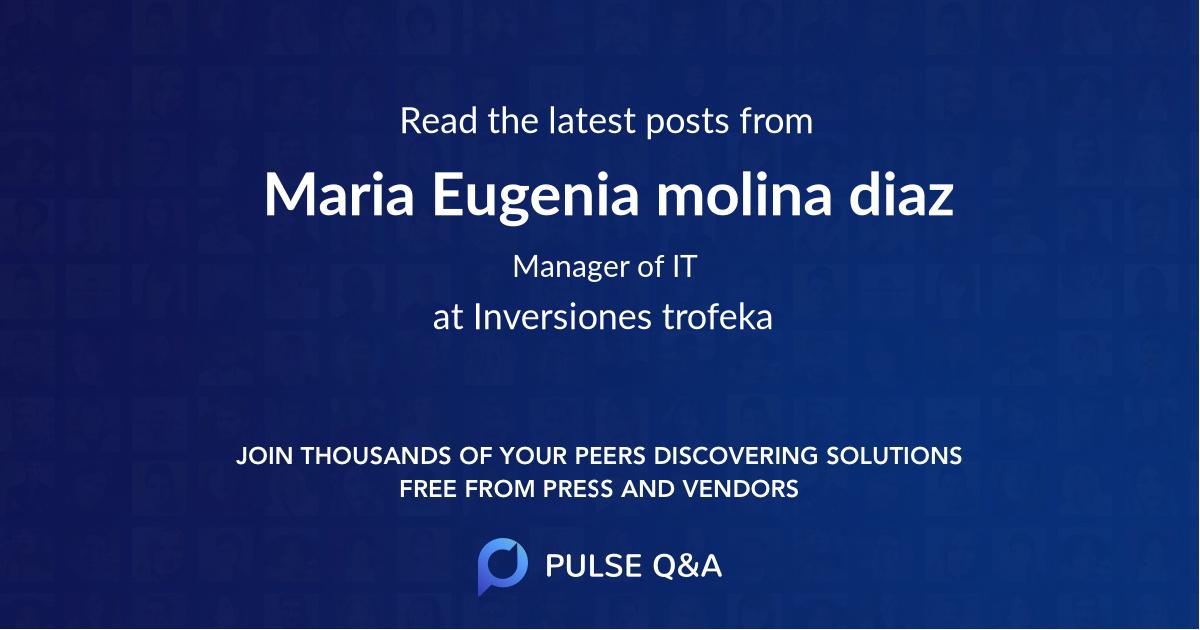 Maria Eugenia molina diaz