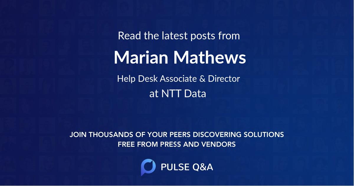 Marian Mathews
