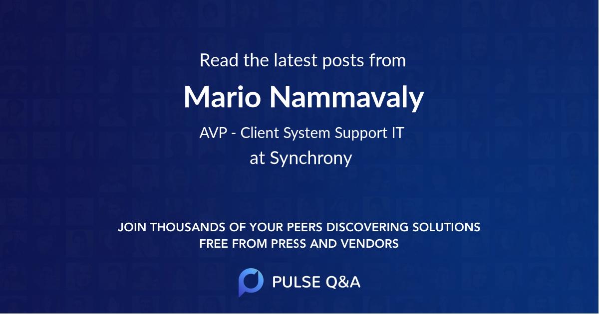 Mario Nammavaly