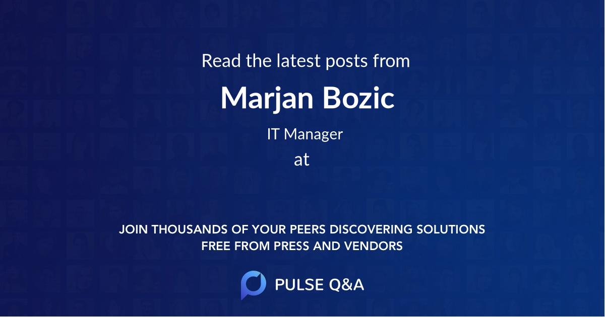 Marjan Bozic