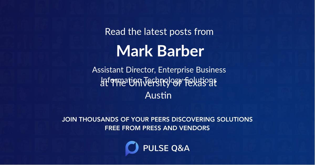 Mark Barber