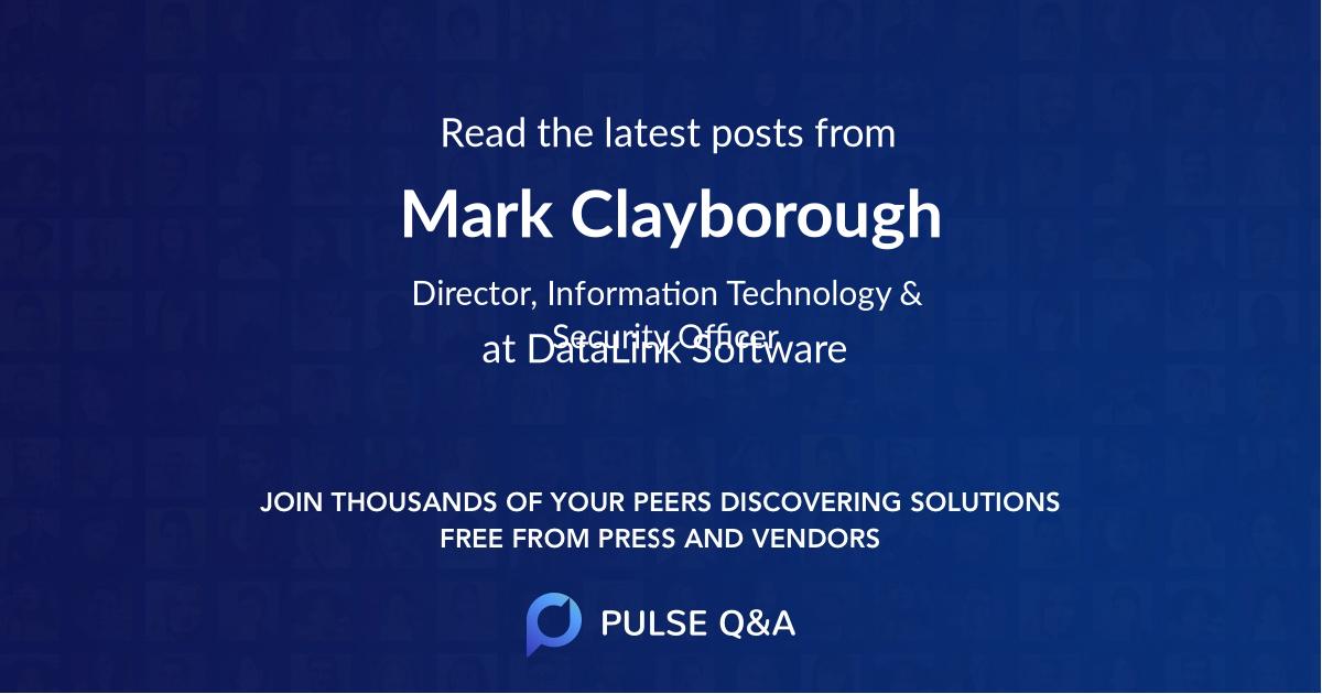 Mark Clayborough