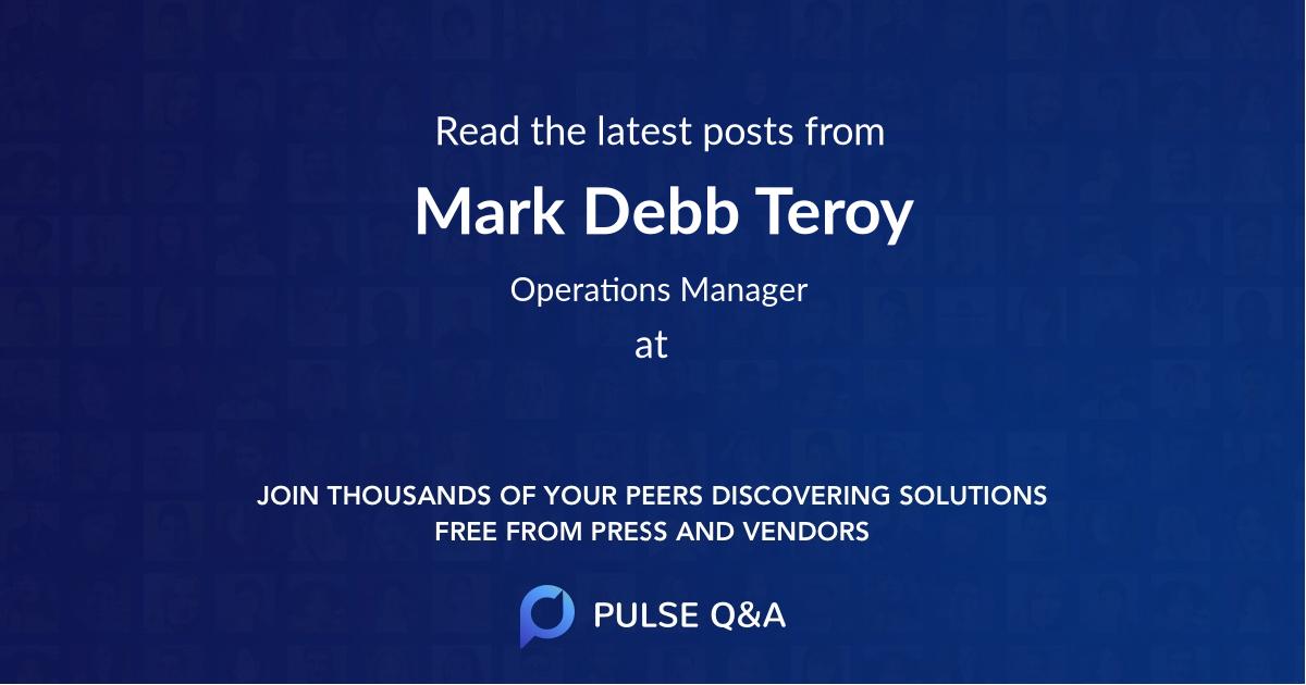 Mark Debb Teroy