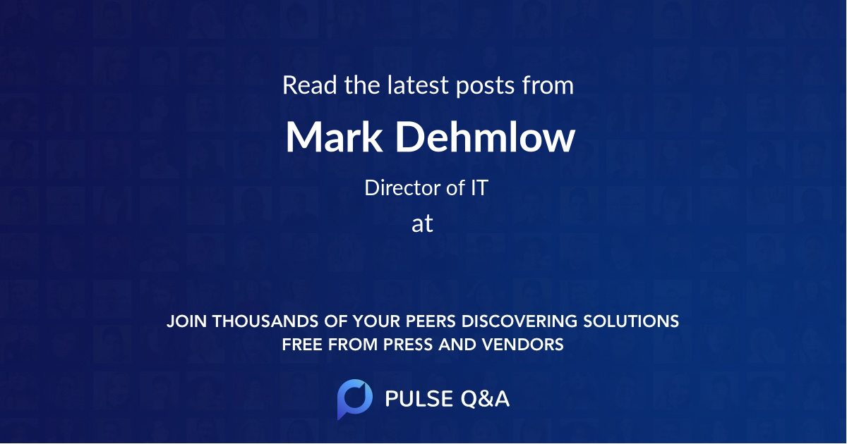 Mark Dehmlow