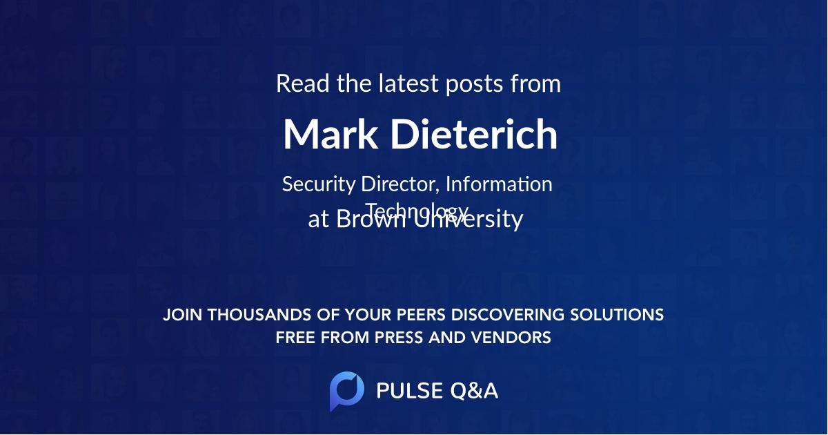 Mark Dieterich