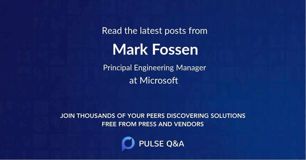 Mark Fossen