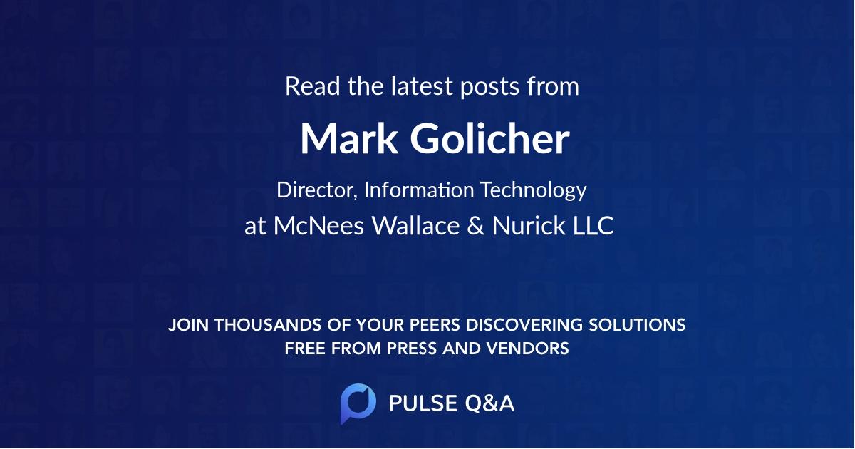 Mark Golicher