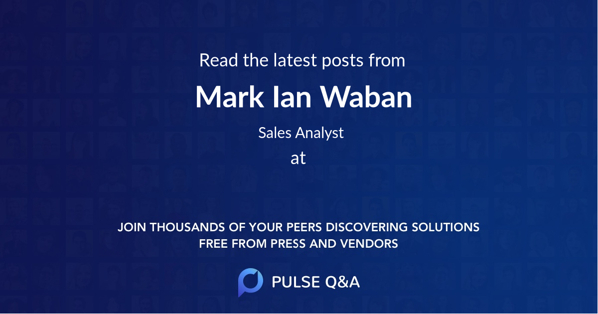 Mark Ian Waban