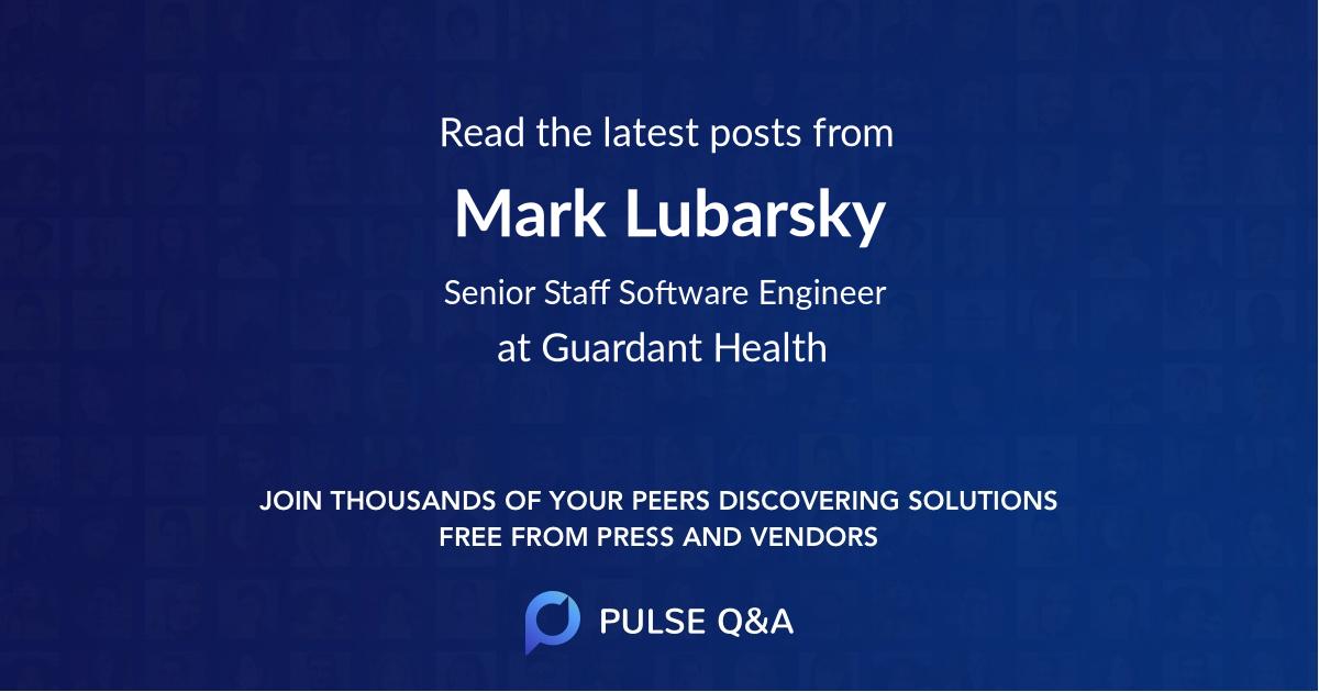 Mark Lubarsky
