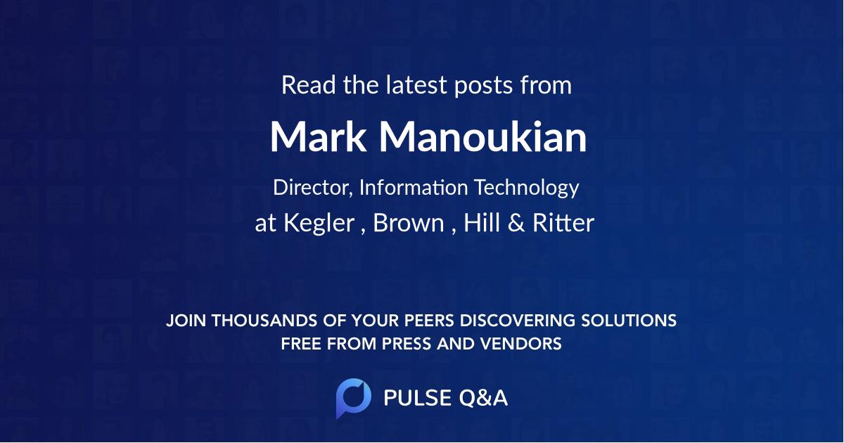 Mark Manoukian