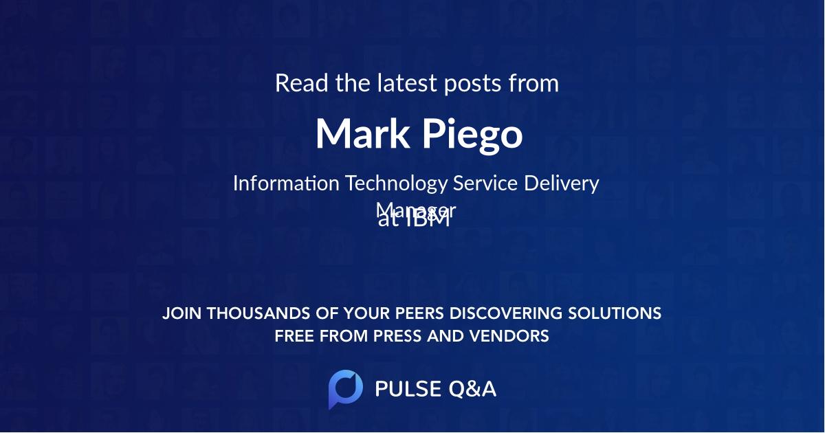 Mark Piego