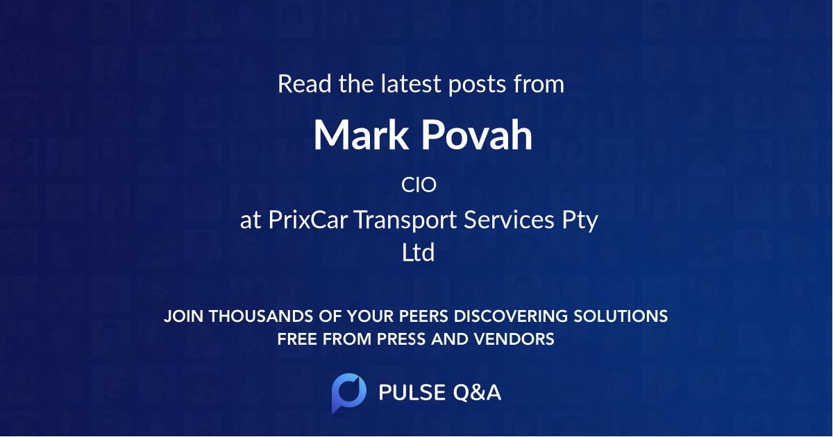 Mark Povah