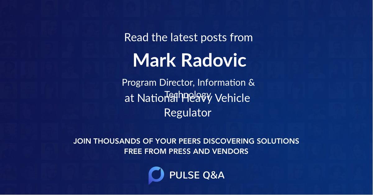 Mark Radovic