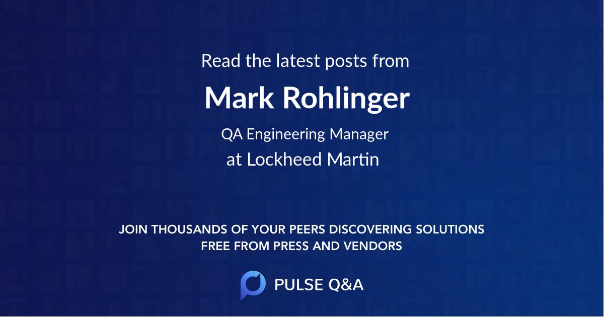 Mark Rohlinger