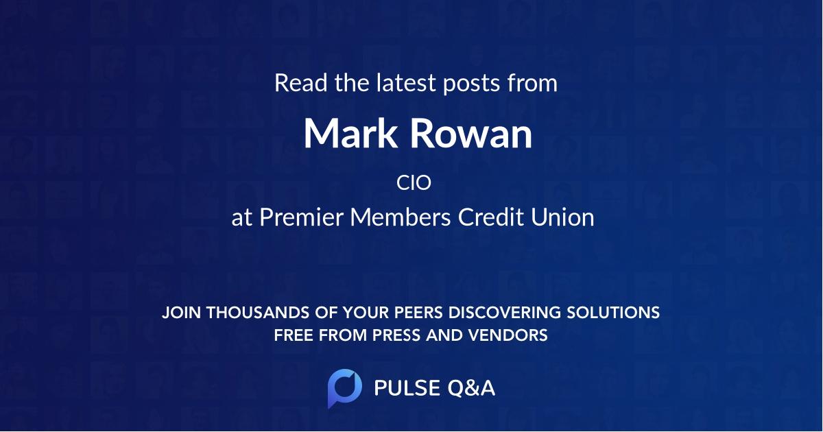 Mark Rowan