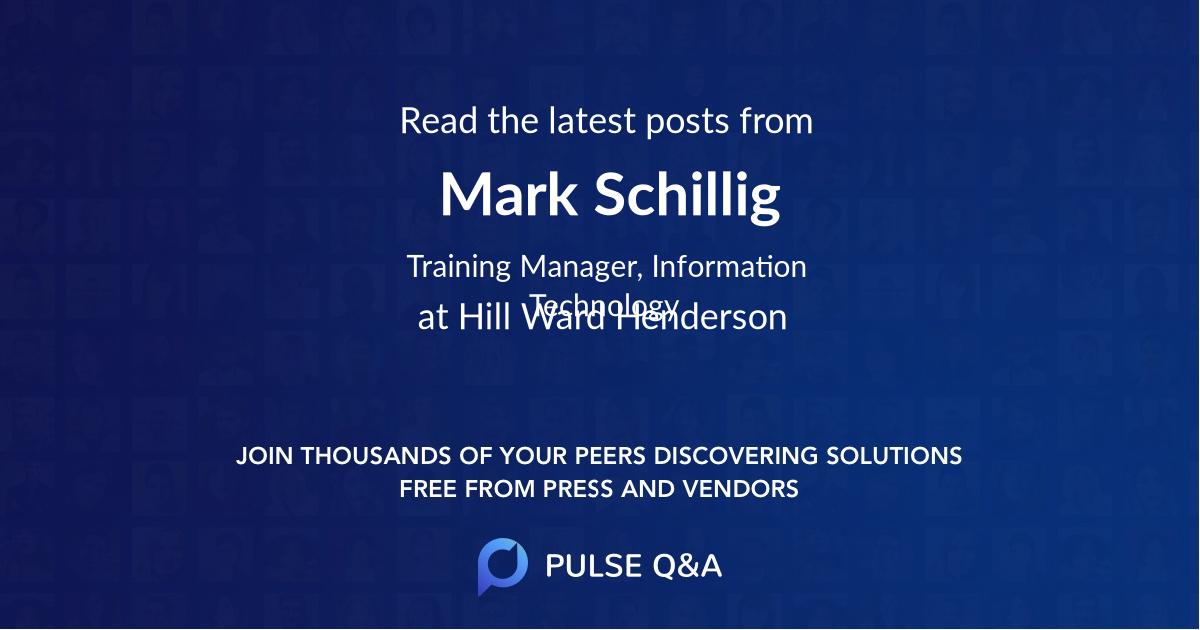 Mark Schillig