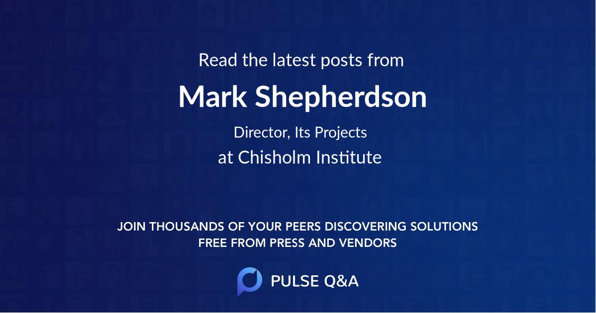Mark Shepherdson