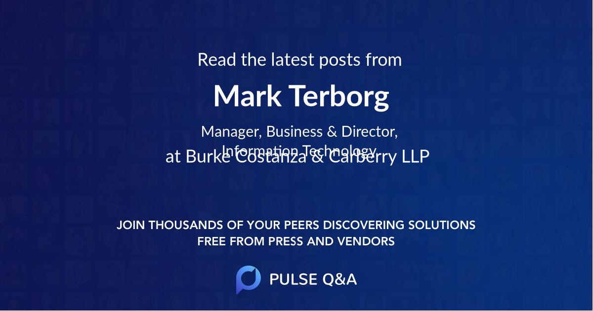 Mark Terborg