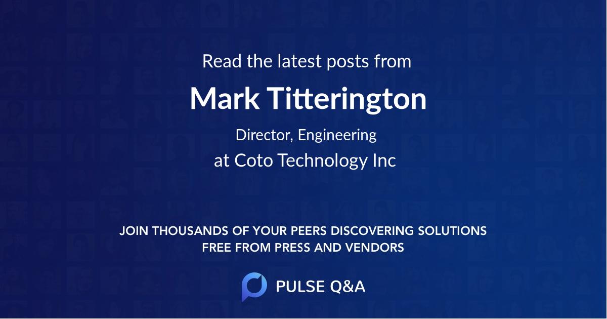 Mark Titterington