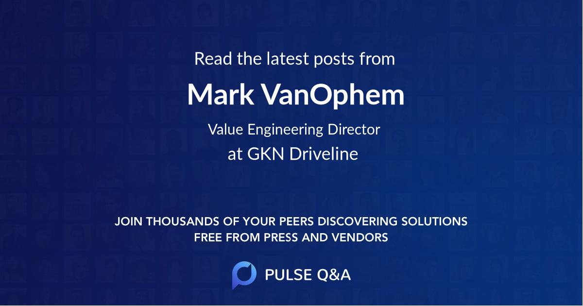 Mark VanOphem
