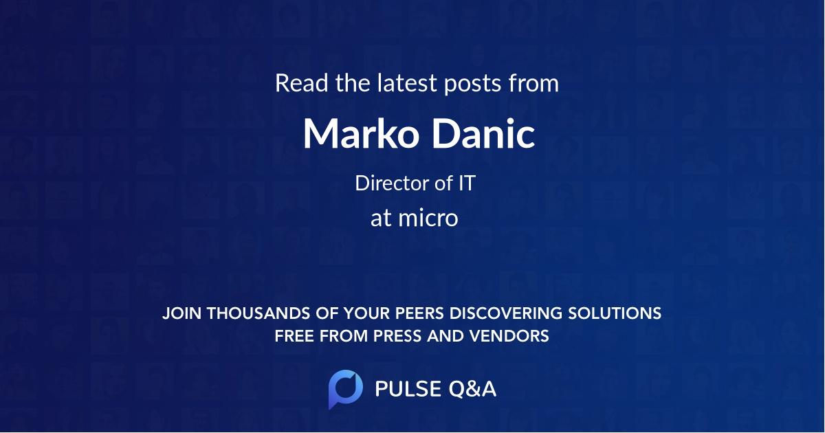 Marko Danic