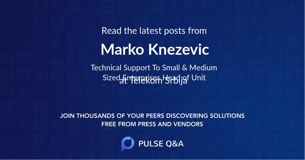 Marko Knezevic