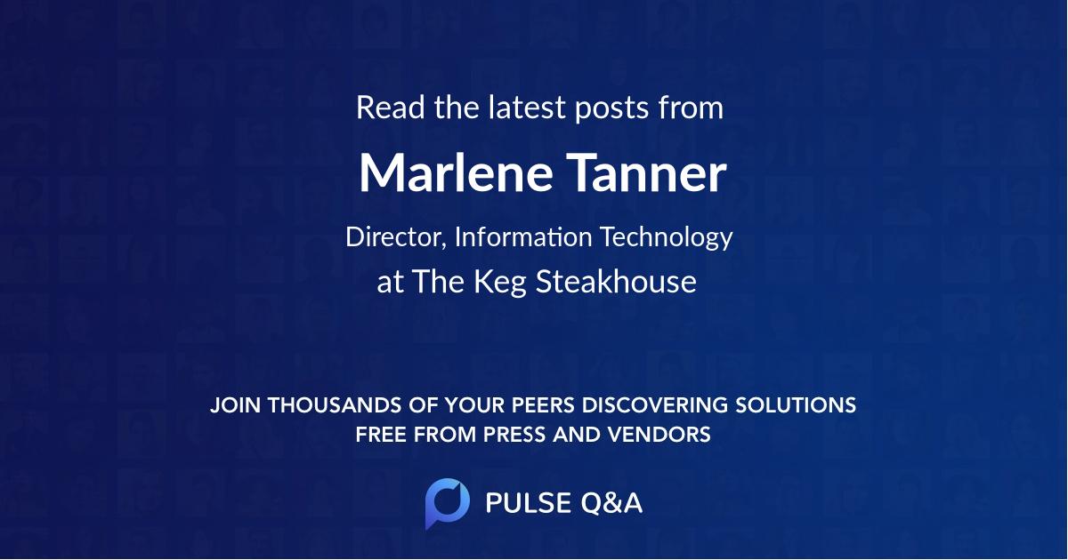 Marlene Tanner