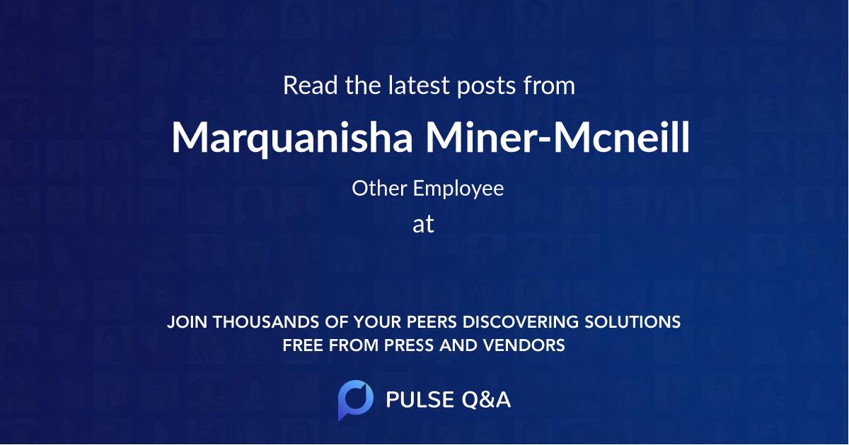 Marquanisha Miner-Mcneill