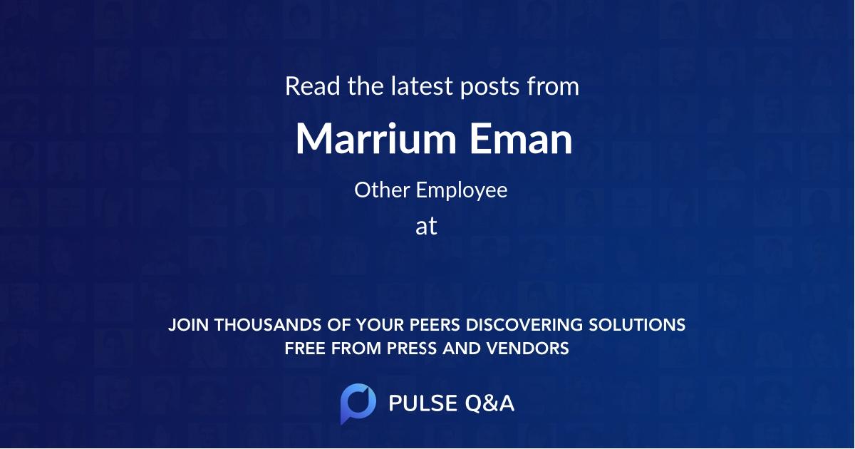 Marrium Eman