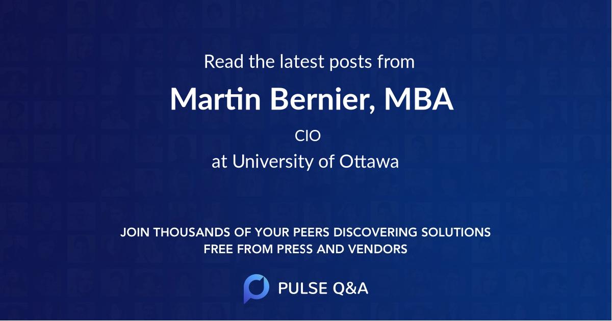Martin Bernier, MBA