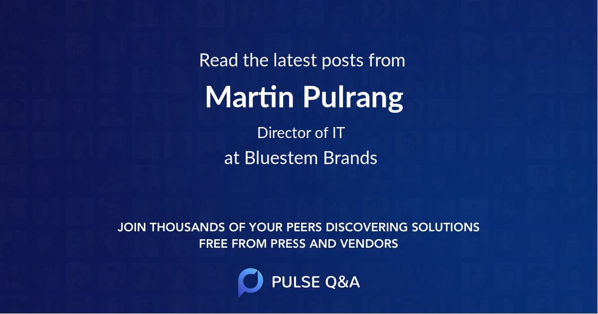 Martin Pulrang