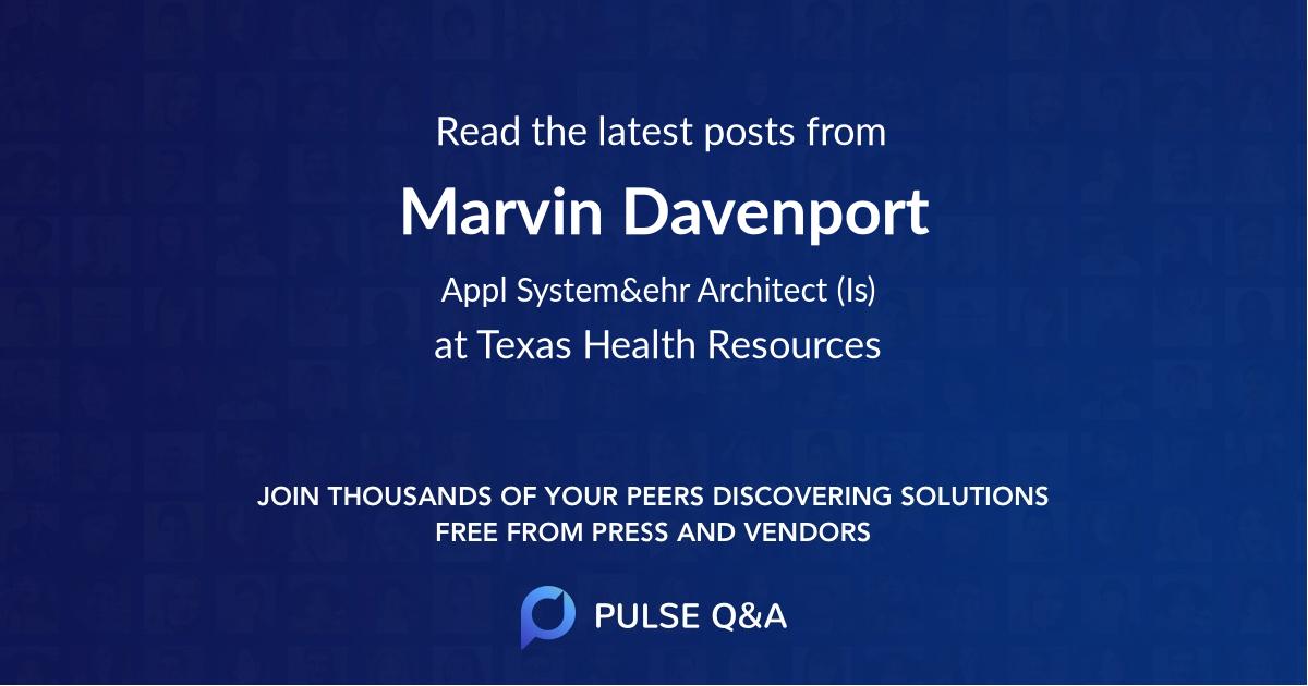 Marvin Davenport