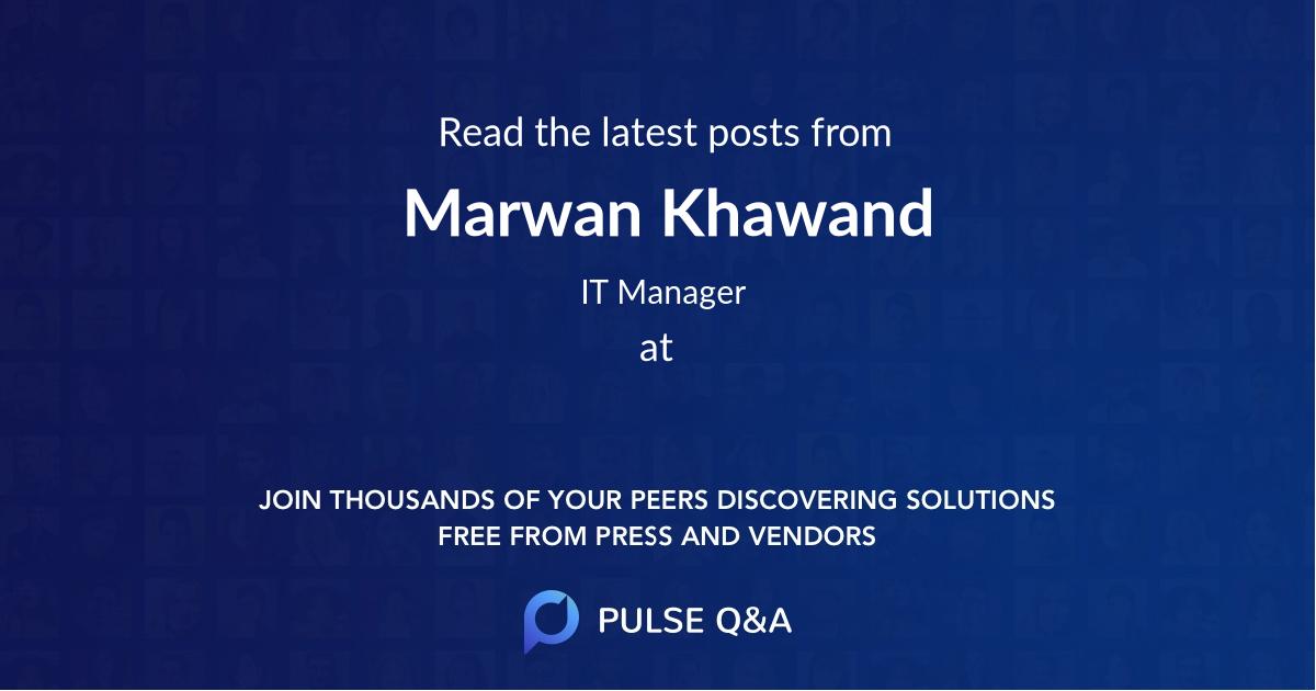 Marwan Khawand